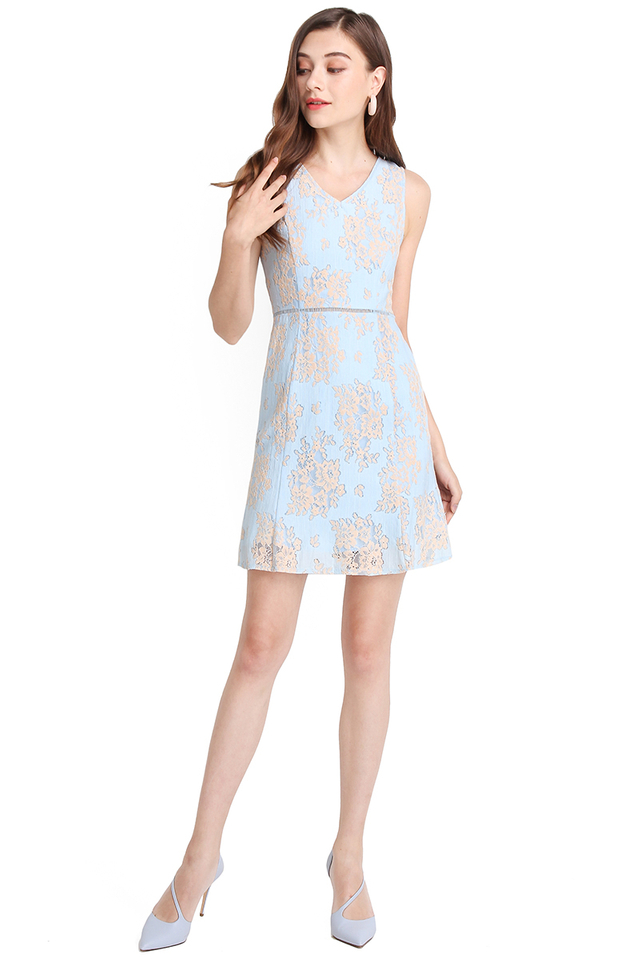 Write You A Love Song Dress In Sky Blue