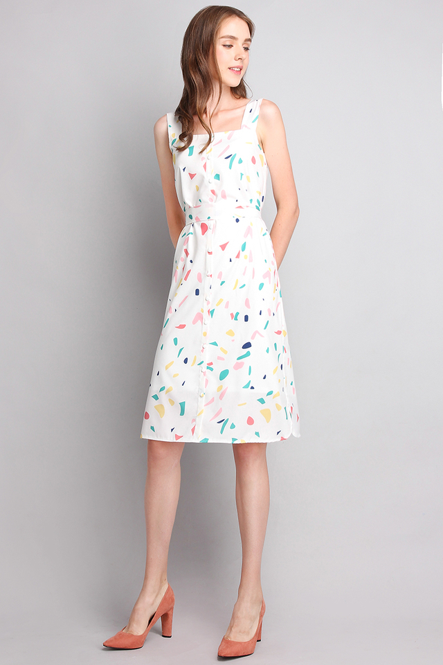 [BO] Confetti Party Dress In Rainbow Prints