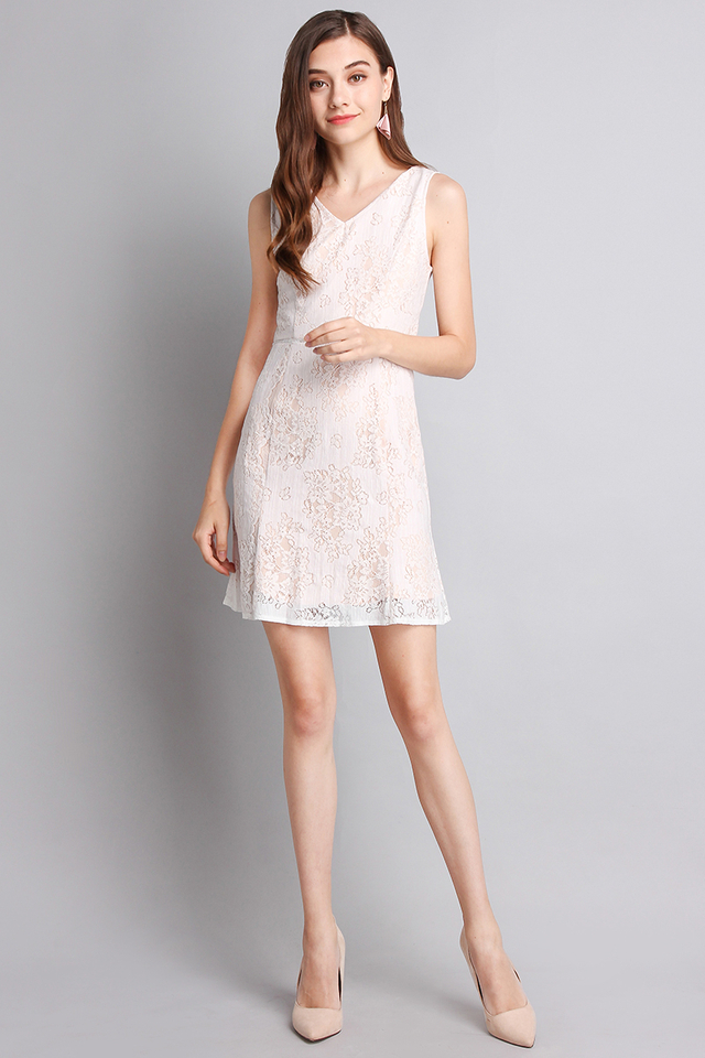 Write You A Love Song Dress In Classic White