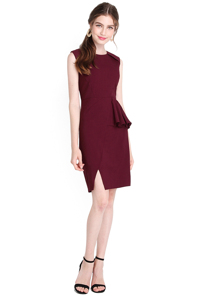 Call It A Classic Dress In Wine Red