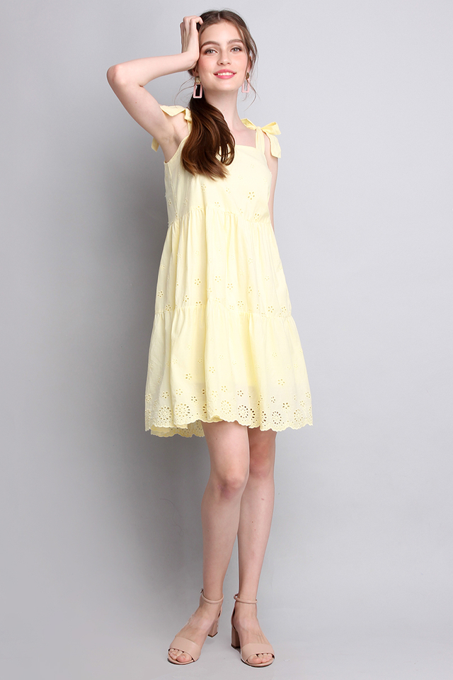 Sunny Personality Dress In Daffodil Yellow