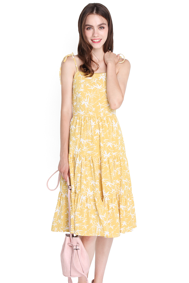Sunny Spirit Dress In Tropical Prints