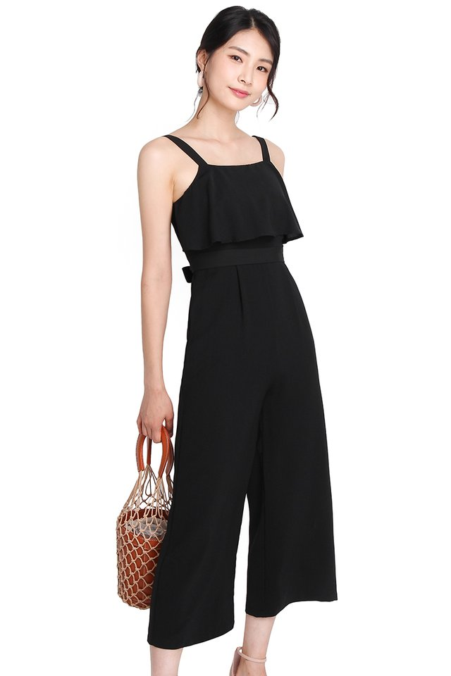 Alluring Gaze Romper In Classic Black