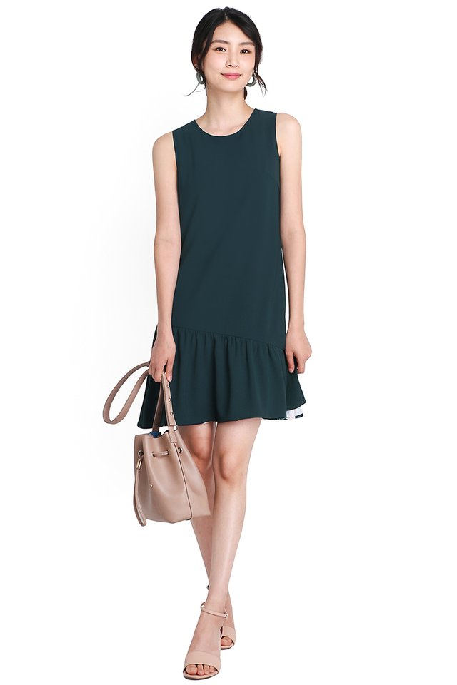 Ease Into Fall Dress In Blue Prints