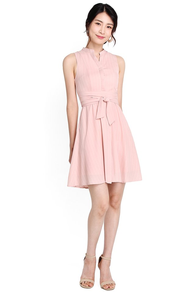 Dear Charlotte Dress In Pink Stripes