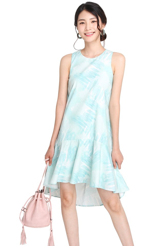 Captivated Audience Dress In Mint Prints