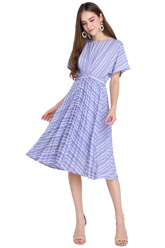 Meant To Be Dress In Periwinkle Stripes