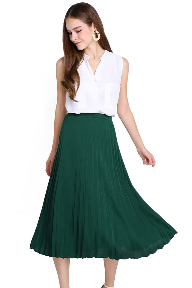 Lady Luck Skirt In Forest Green