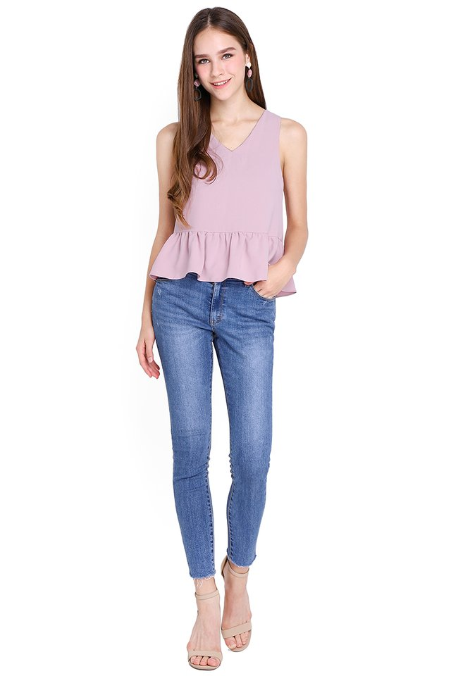Summer Ready Top In Blue Lilac