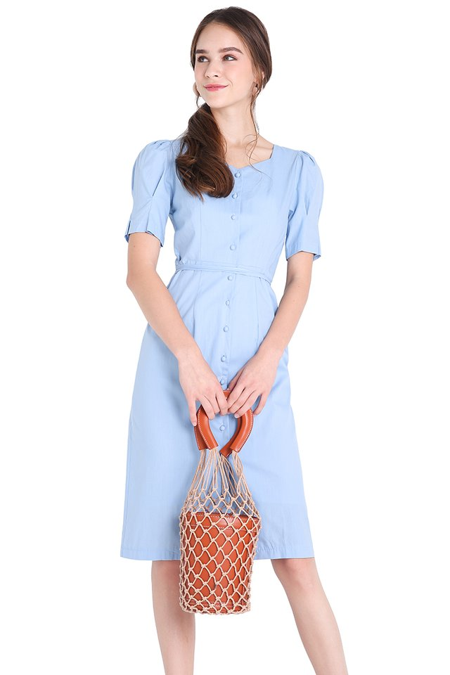 Florida Vacation Dress In Sky Blue