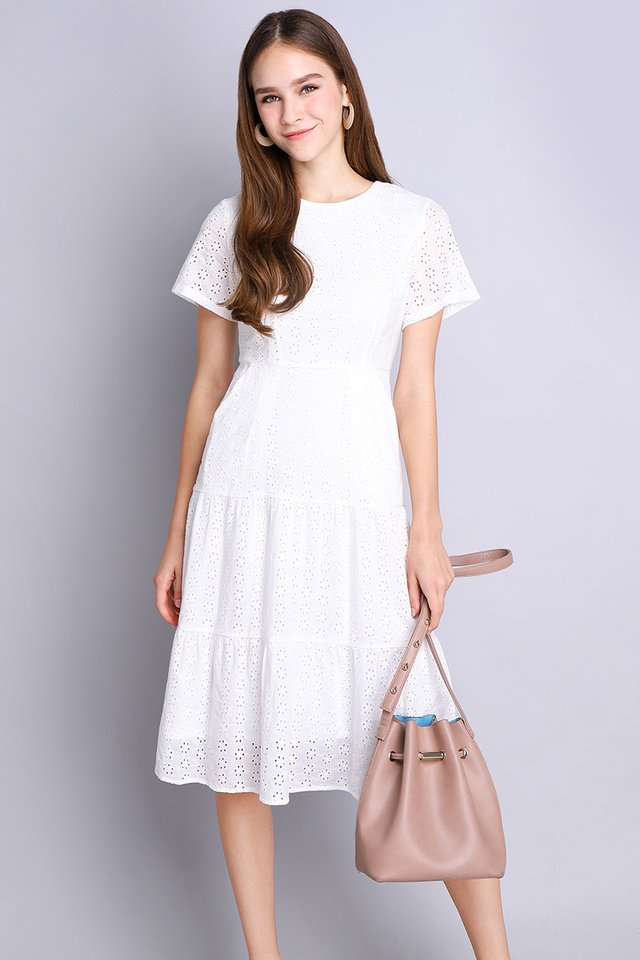 Flawless Finesse Dress In Classic White