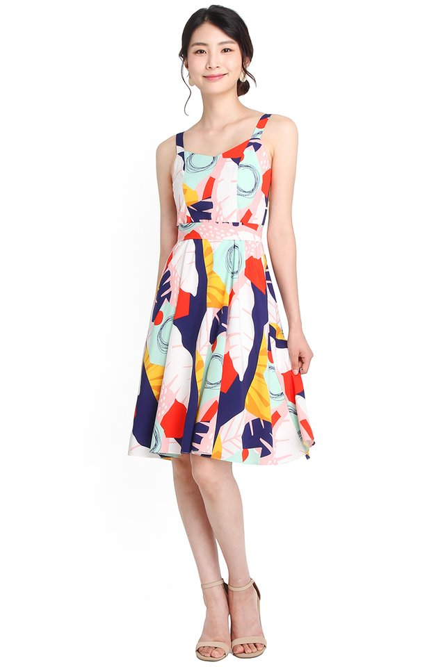 Swirling Into Summer Dress In Abstract Prints