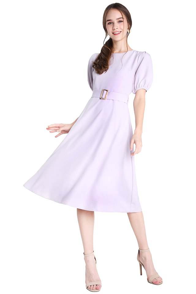 Feminine Personality Dress In Soft Lilac