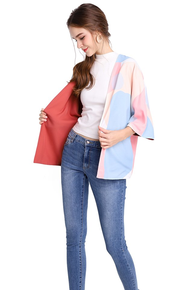World Explorer Kimono In Candy Prints