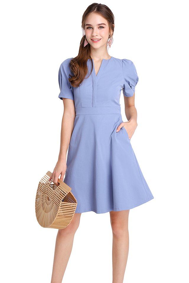 Timeless Moments Dress In Periwinkle
