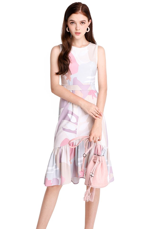 Wonders Of Nature Dress In Pink Prints