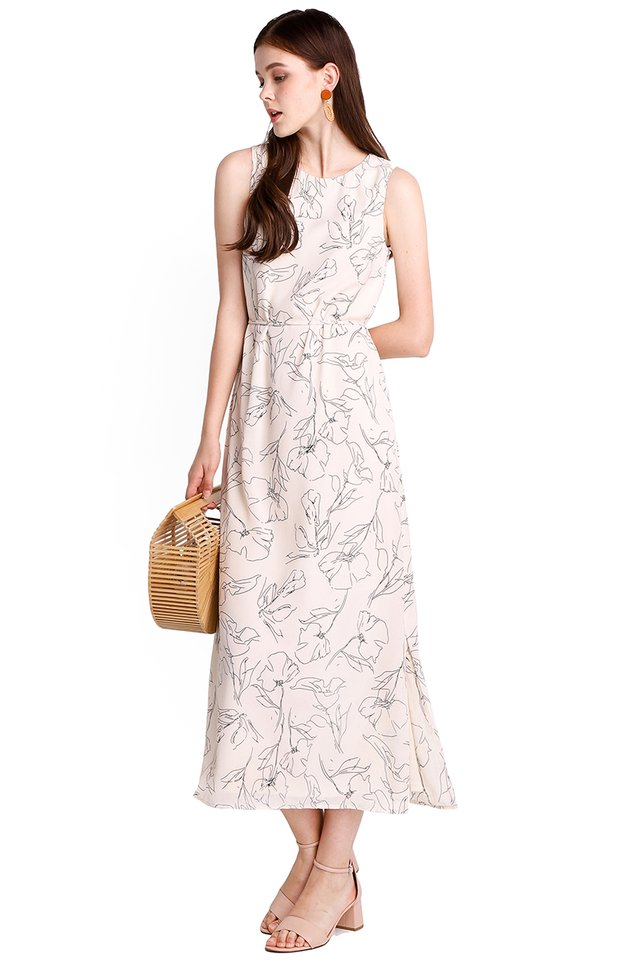 Enchanted Garden Dress In Cream Florals