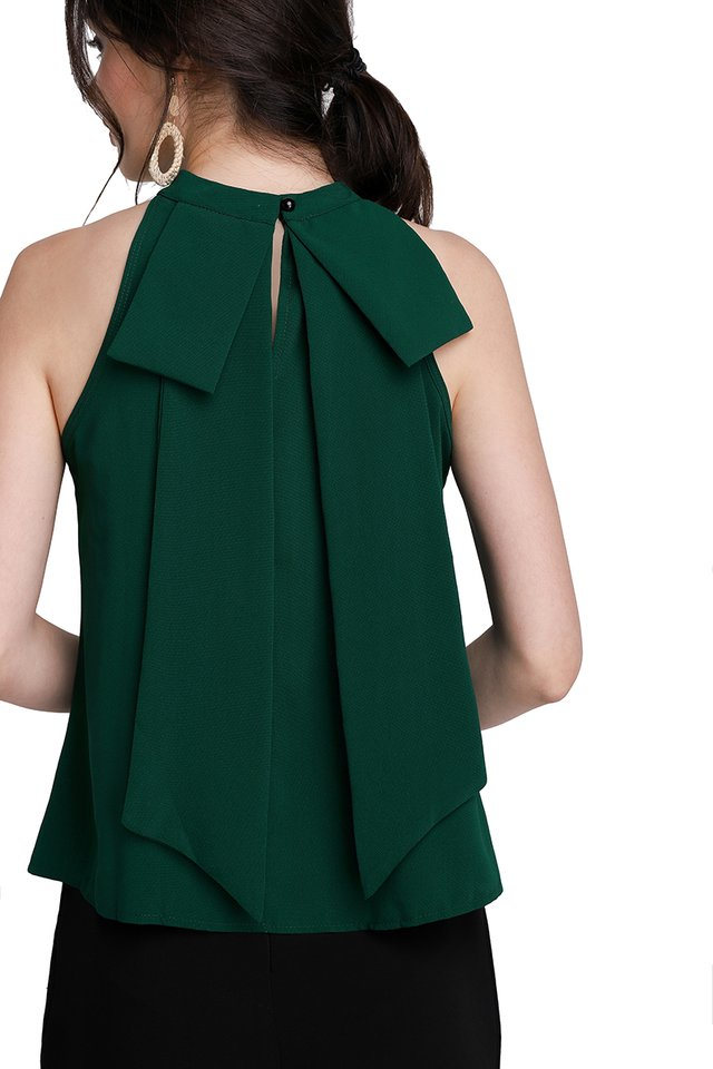 You Made My Day Top In Forest Green