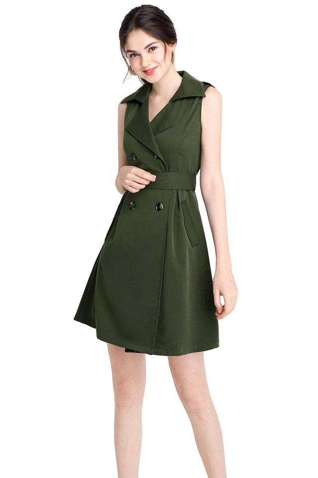 [BO] The Jetsetter Dress In Olive Green