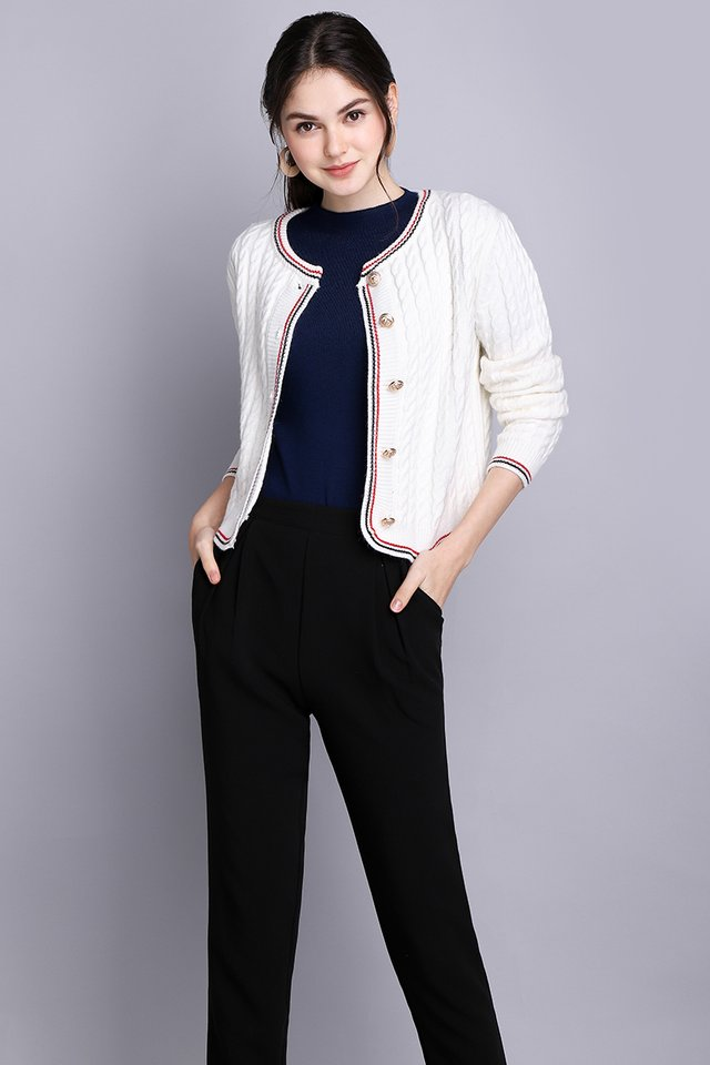 Cruise Holiday Cardigan In Classic White