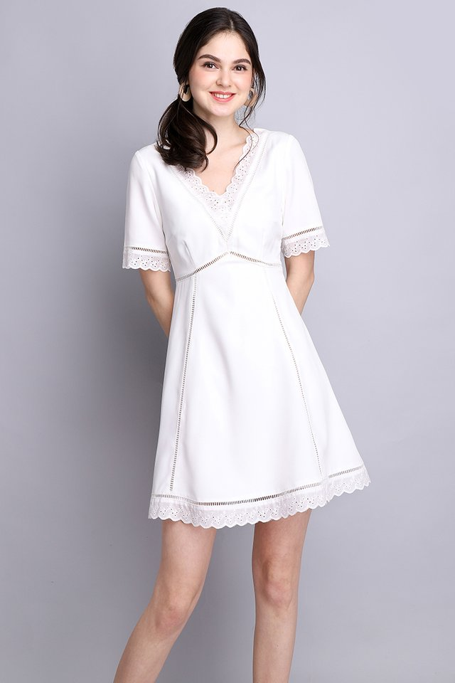 Wholly Romantic Dress In Classic White