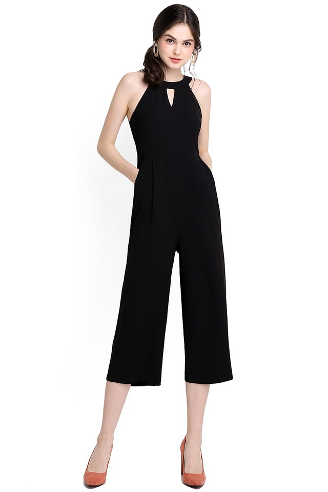 Walk With Me Romper In Classic Black