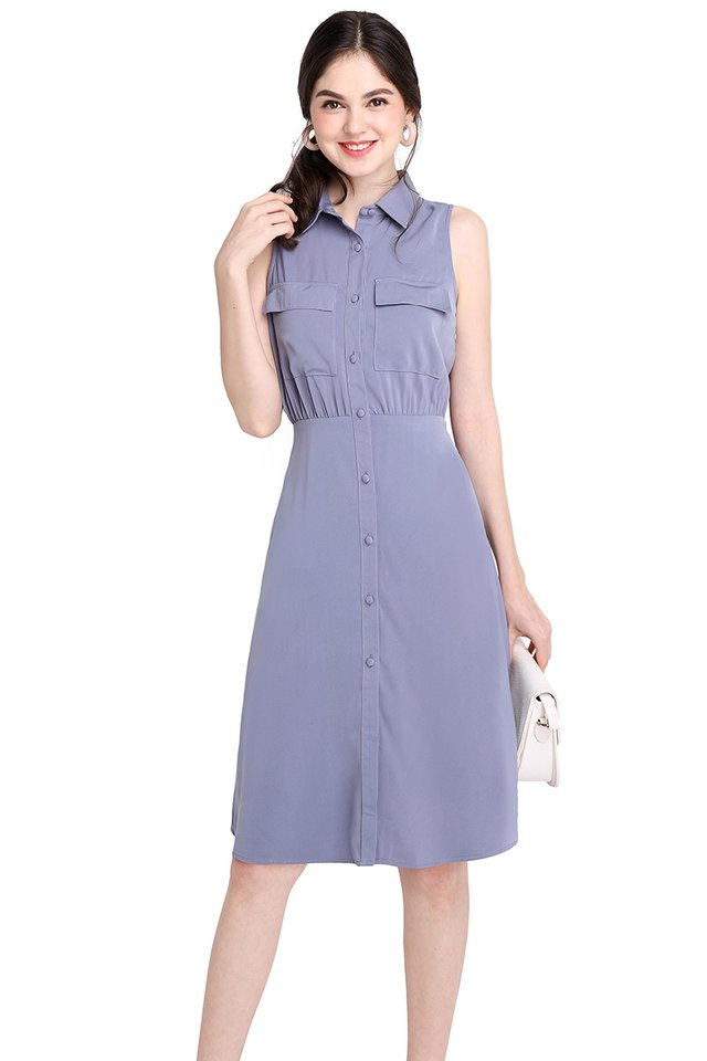 Manhattan City Dress In Periwinkle