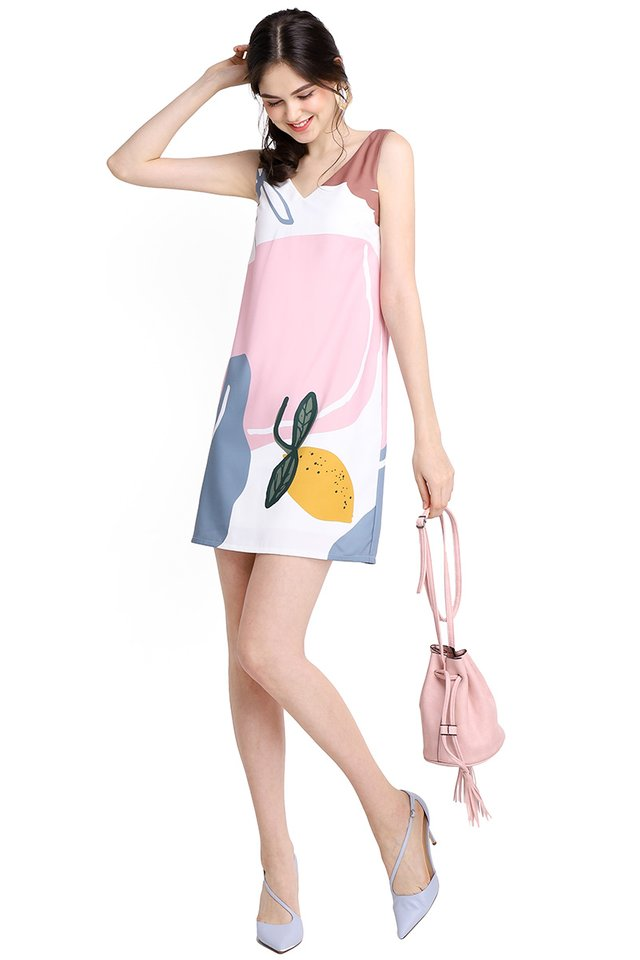 Sunrise Adventure Dress In Pink Prints