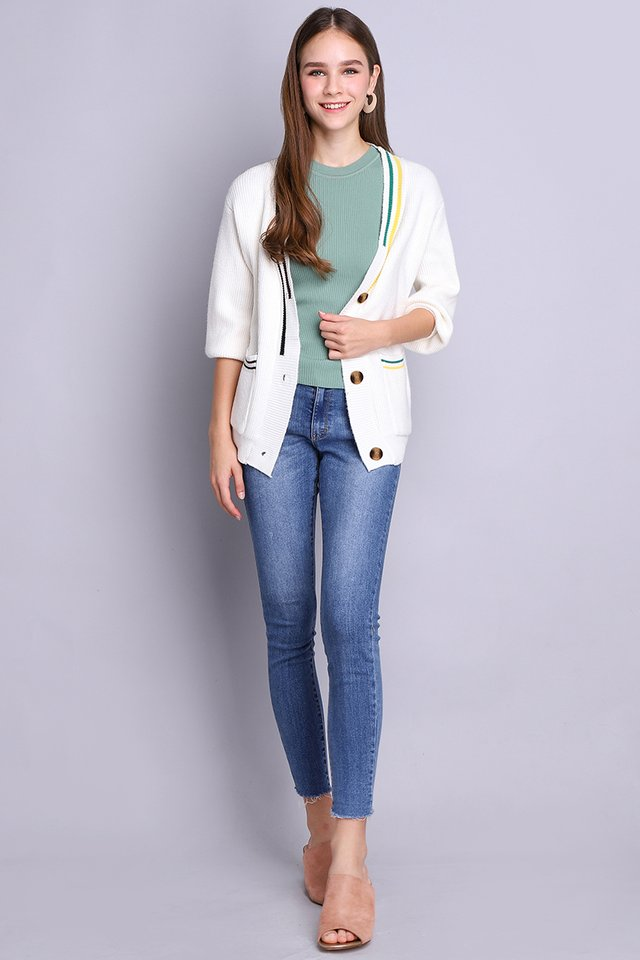 Sweater Weather Cardigan In Ivory