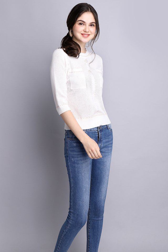 Style Icon Top In Classic White