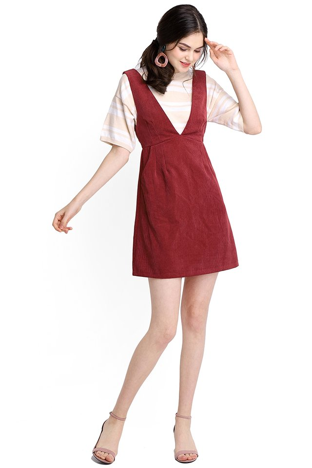 In Time For Spring Dress In Wine