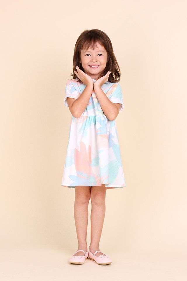 Tweedledum Dress In Mint Prints
