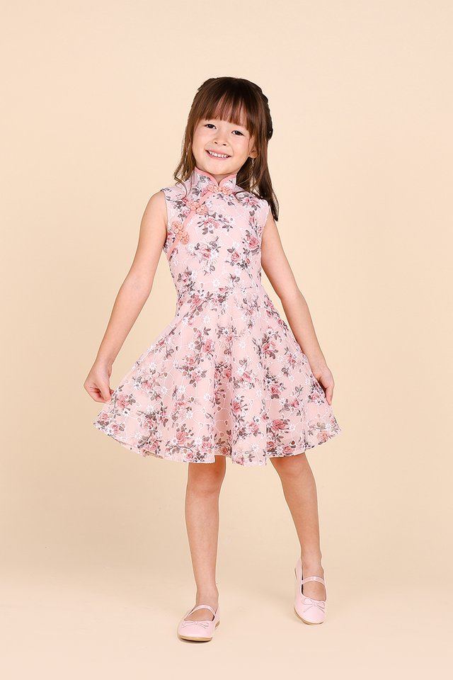 My Secret Garden Cheongsam Dress In Pink Florals
