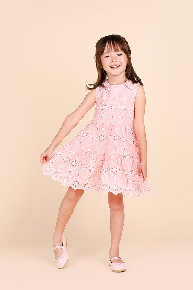 Dreamy Cottage Dress In Pea Pink