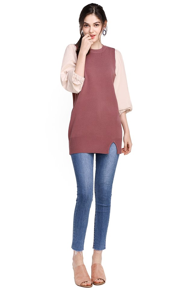 Romance In Paris Tunic In Rum Pink