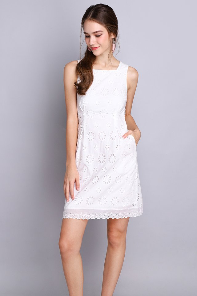Picture Of Bliss Dress In Classic White