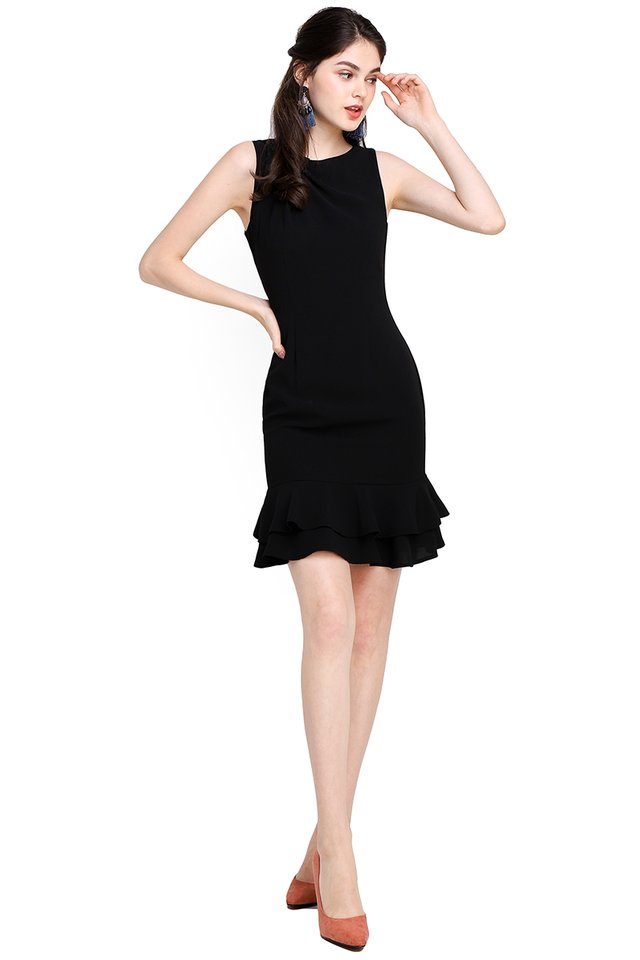 Captivated By You Dress In Classic Black