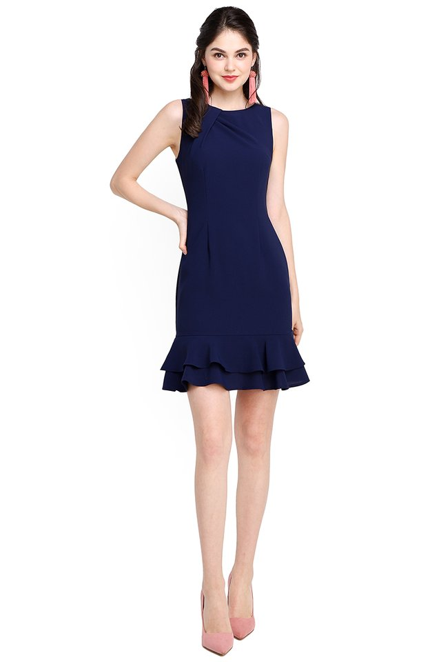 Captivated By You Dress In Navy Blue