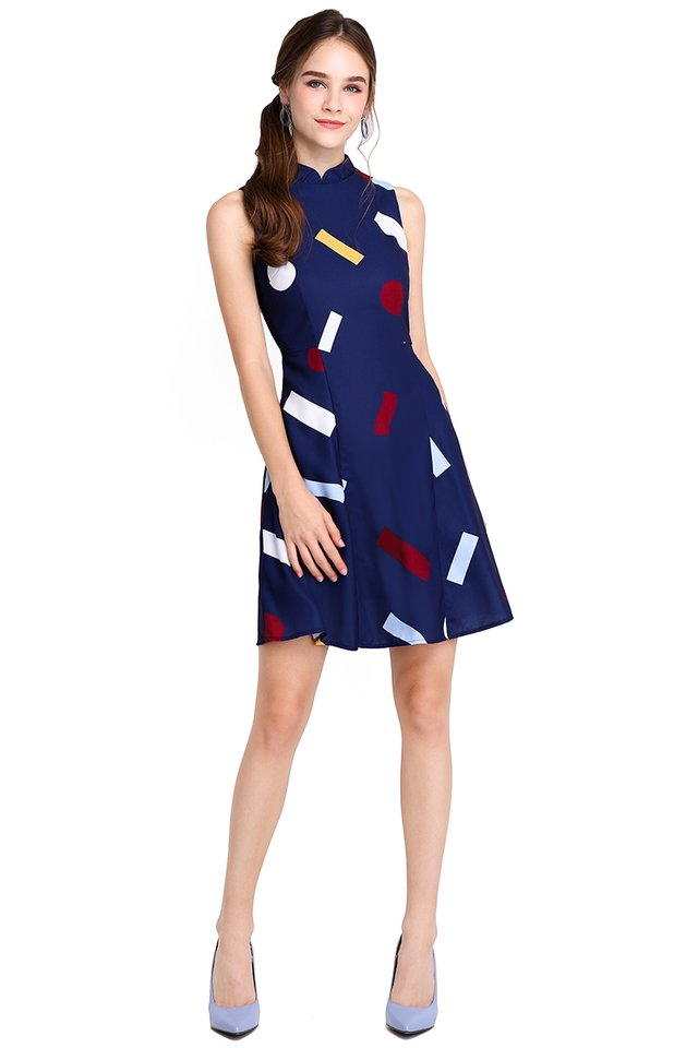 Solve The Puzzle Dress In Blue Prints