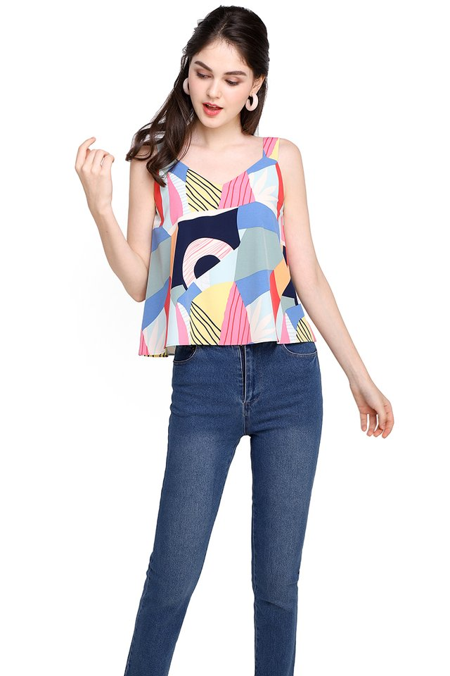 Adventure Of A Lifetime Top In Abstract Prints