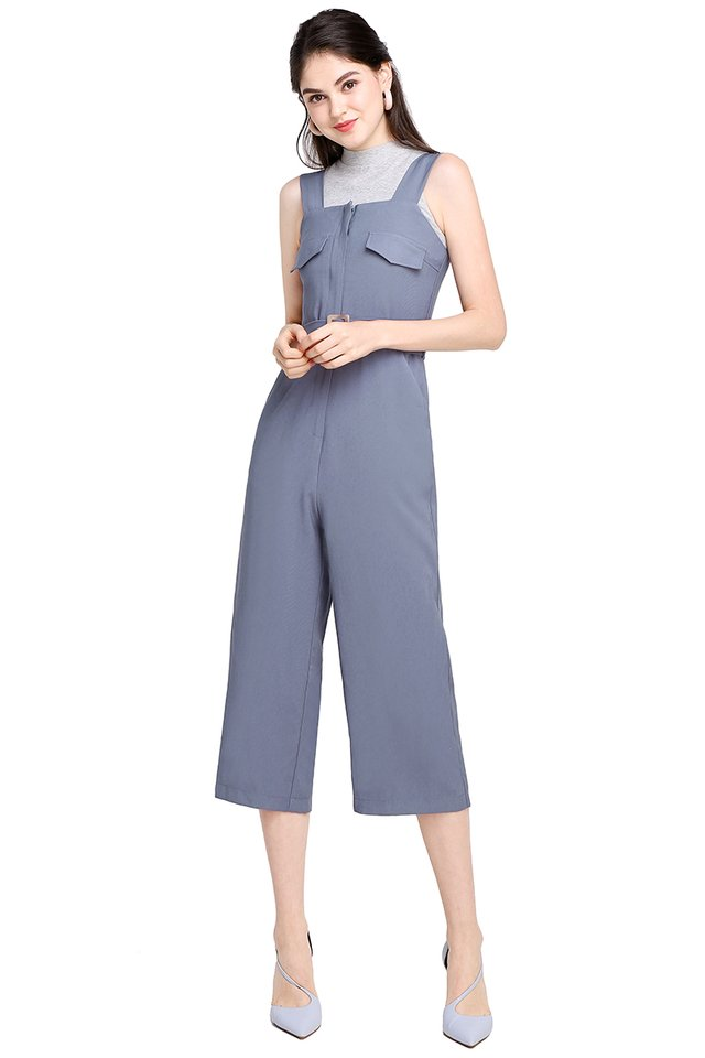 Stockholm Adventures Romper In Periwinkle