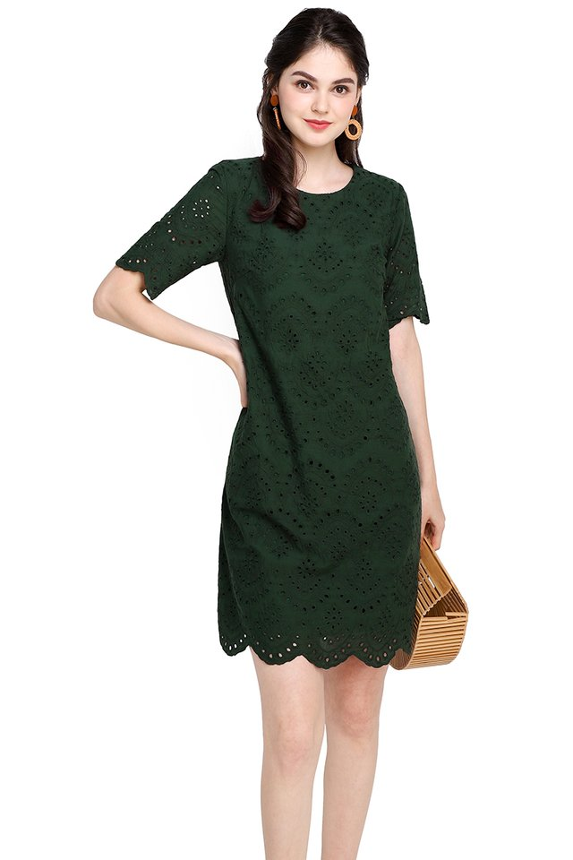 Enchant Your Dreams Dress In Forest Green