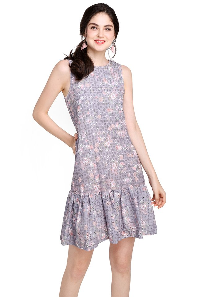Cakes And Butterflies Dress In Lilac Florals