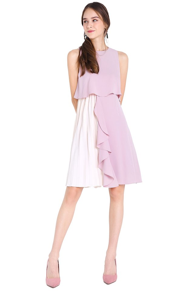 Dancing In The Rain Dress In Soft Lilac