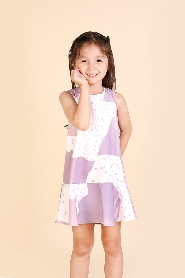 Twinkle Little Stars Dress In Lilac Prints