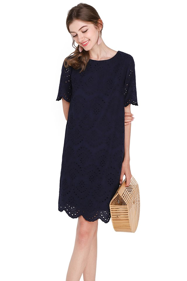 Enchant Your Dreams Dress In Navy Blue
