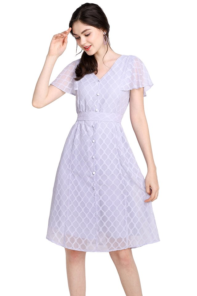 Spring Merriment Dress In Soft Periwinkle