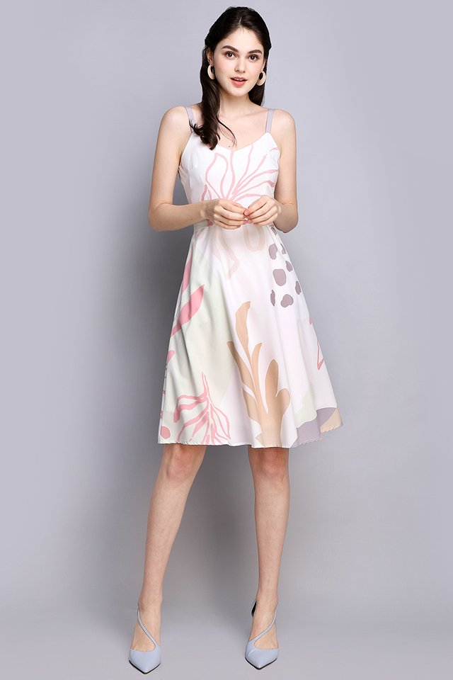 Doodle Perfect Dress In Pink Prints