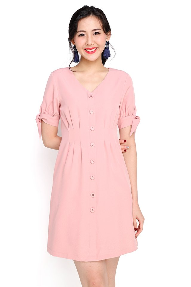 Warm Affection Dress In Pea Pink