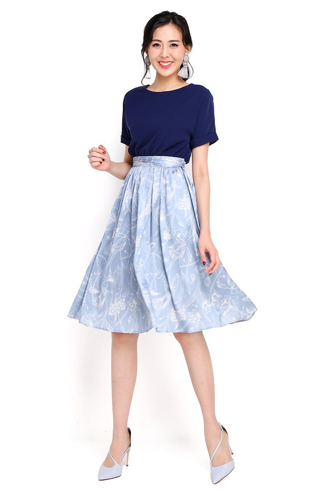 Pardon My French Dress In Sky Florals